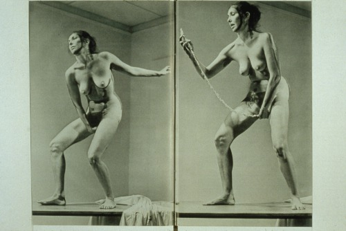 "Carolee Schneemann – ""Interior Scroll"" – Performance – 1975"